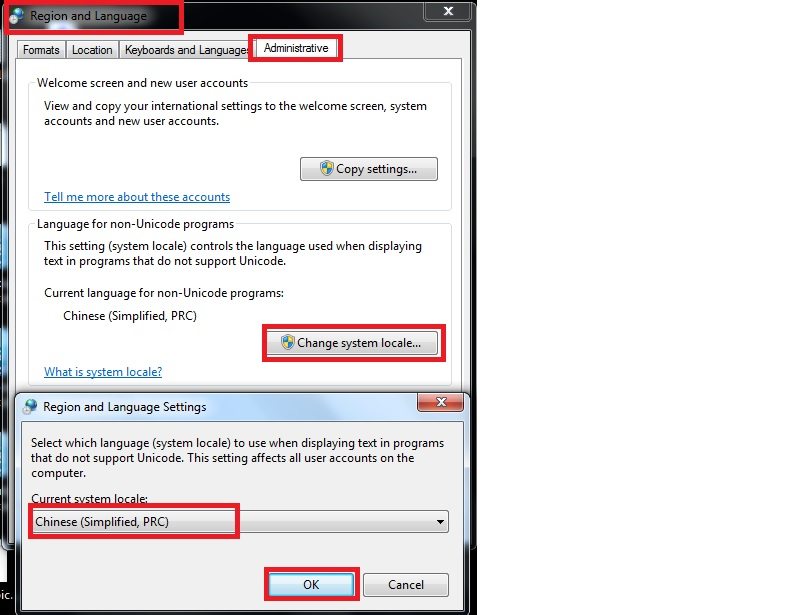 Activate Chinese Character in Windows 7